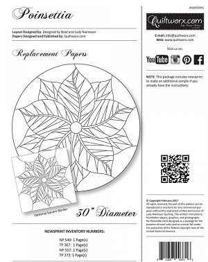 Poinsettia Table Topper Replacement Papers JNQ00239R1