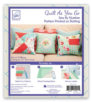Quilt As You Go Pillow Covers Pattern JT-1491