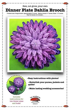 Dinner Plate Dahlia Brooch Pattern