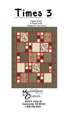 Times 3 Fat Quarter Pattern by Kari Nichols