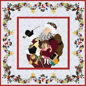 Ole Time Santa Wallhanging