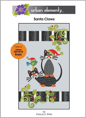 Santa Claws Applique Quilt Pattern UE-SCP