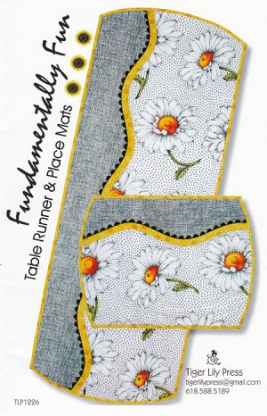Fundamentally Fun Table Runner & Place Mats Pattern TLP1226