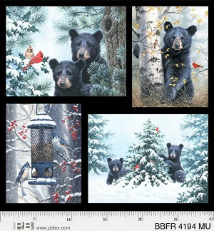 "P & B Textiles Beary Best Friends 43"" Digital Panel 04194 MU"