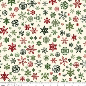 Riley Blake Christmas Delivery Snowflakes Cream C7333-Cream