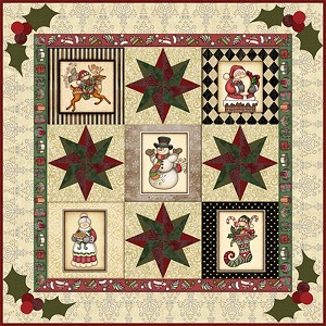 "RJR Fabrics Holly Jolly ""Here He Comes"" Kit 9653-930"
