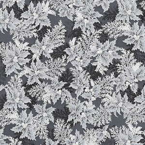 Robert Kaufman Holiday Flourish 11 17340-189 EBONY