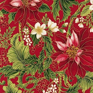 Robert Kaufman Holiday Flourish 9 15763-3 Red