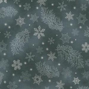 Robert Kaufman Holiday Flourish 9 15767-184 Charcoal