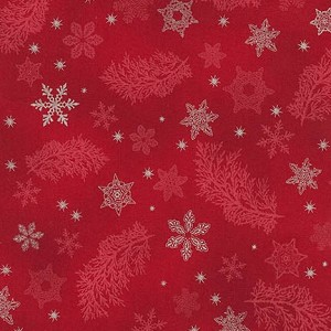 Robert Kaufman Holiday Flourish 9 15767-3 Red