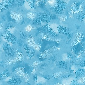 Robert Kaufman Winter's Grandeur Metallic 7 SRK-18383-63 SKY