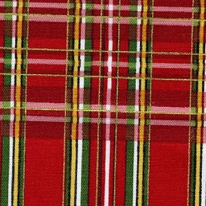 Timeless Treasures Country Christmas Red Plaid