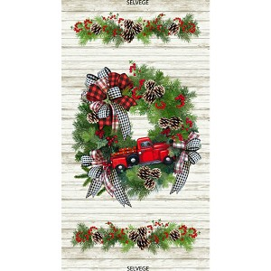 Timeless Treasures I'll Be Home For Christmas Panel-C7825-Multi