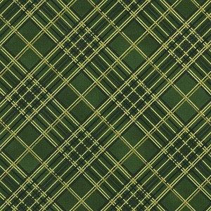 Holiday Plaid Metallic Green Bias Plaid Holiday-CM4990-Green