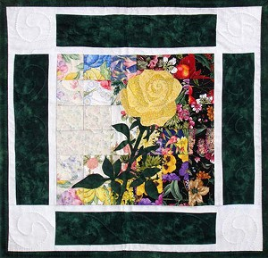 Whims Watercolor Quilt Kits Yellow Rose of Texas