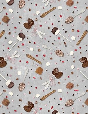 Wilmington Prints Hot Cocoa Bar Spoons & Sprinkles Lt. Gray 3017-27600-923